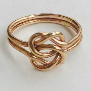 Jewelry - Gold filled knot ring